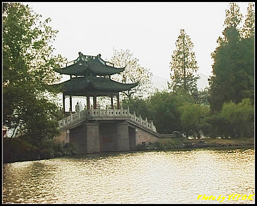 杭州 西湖 (其他景點) - 248 (在西湖十景之 蘇堤上望向岳湖上的玉帶橋)
