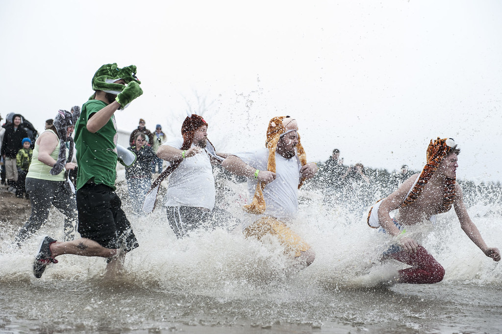 OU Polar Plunge at Lake Snowden, Albany, Ohio.