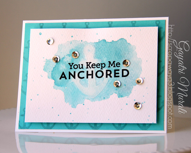 Anchored card