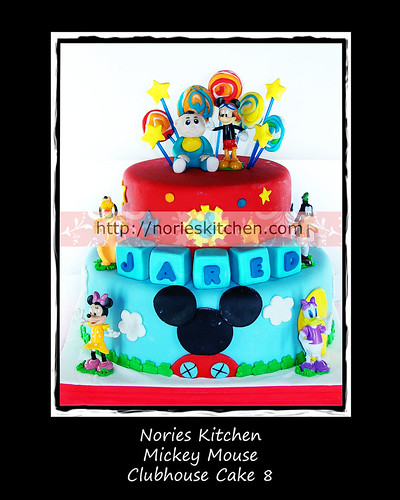Norie's Kitchen - Mickey Mouse Clubhouse Cake 8 by Norie's Kitchen