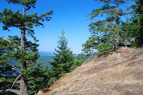 Mountain Lookout in Mount Norman Park, South Pender Island, Gulf Islands National Park, British Columbia, Canada