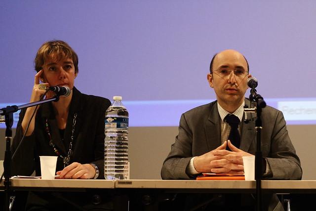 Anne Verneuil (ABF) et Fabien Plazannet (Service Livre et Lecture)