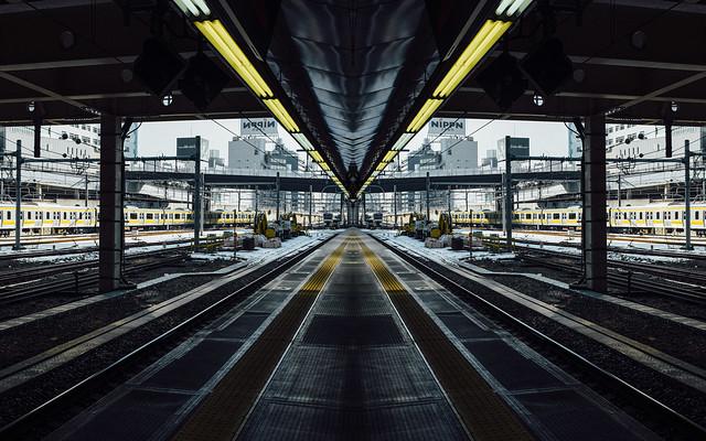 japan, train, station