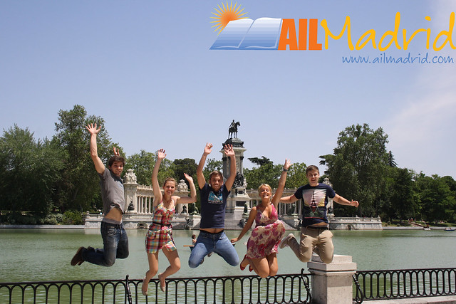 language and school and in and madrid: