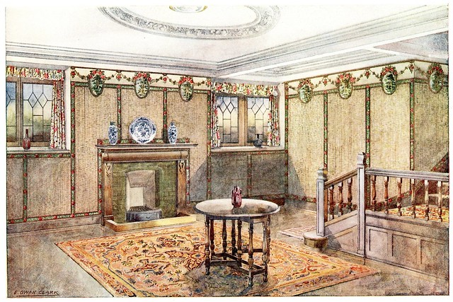 early 20th century wallpaper room design