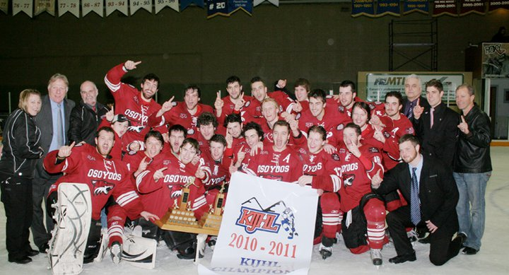 Sam Nigg with Kimberly KIJHL champs (photo contributed)