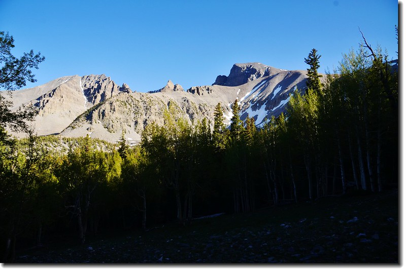 Wheeler Peak from Alpine Lakes Trail 7