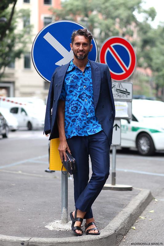 Simone Marchetti, street style Milan