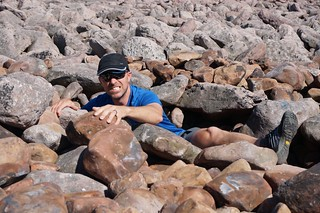 Alan in the Boulder Field
