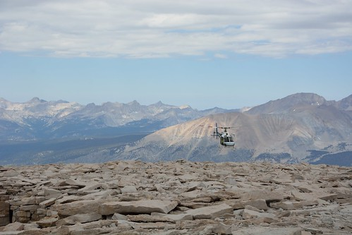 Helicopter Landing on Mt. Whitney
