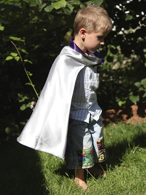 Superhero Cape in action