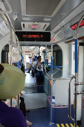 台中BRT藍線車輛一景
