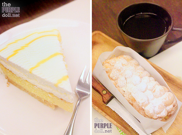 Dulce de Leche Cheesecake (P195) and Brazo de Mais and Salabat (P185)