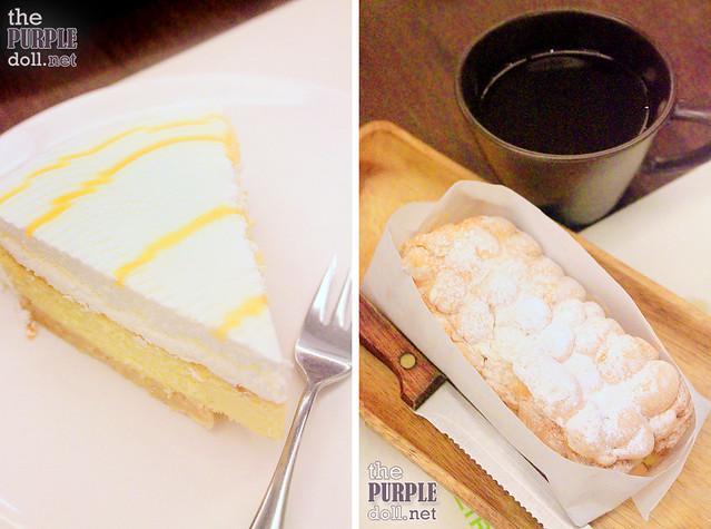 Dulce de Leche Cheesecake (P195) and Brazo de Mais and Salabat (P185)