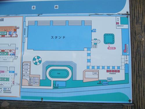 金沢競馬場のパドックの位置