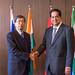 President Nakao meets president of NDB