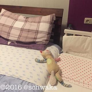 Die Betten sind auch schon gerichtet. #12von12 #12v12 #baby #babybay
