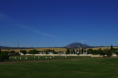 Klaus Naujok posted a photo:	South/west view of Mt. Diablo and its foot hills from the Black Diamond Middle School's football field.
