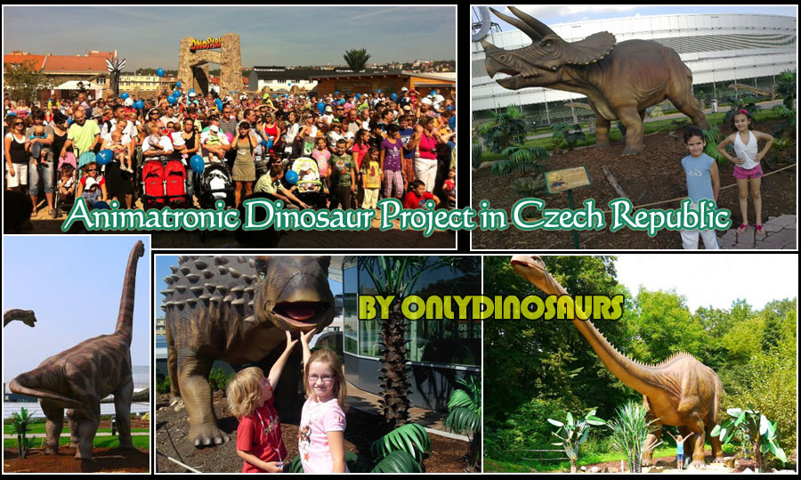 Animatronic Dinosaur Project in Czech Republic Dinopark