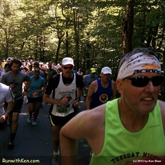 This mountain runner just SMILES at the daunting grade!  At the Mt. Washington Road Race in Gorham, NH.