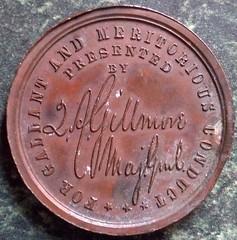 Gillmore medal reverse