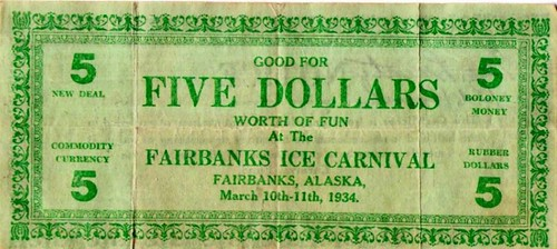 1934 Fairbanks Ice Carnival note