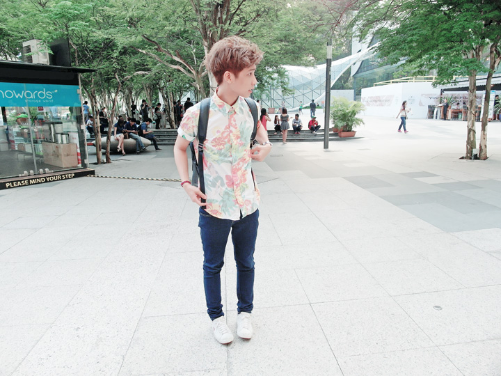typicalben flower print shirt ootd