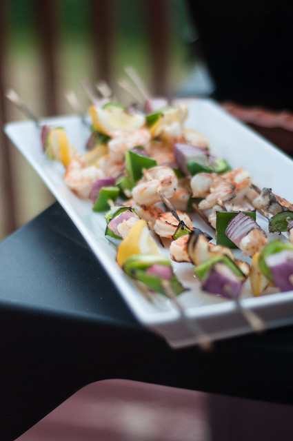 prawn & veggie kebabs