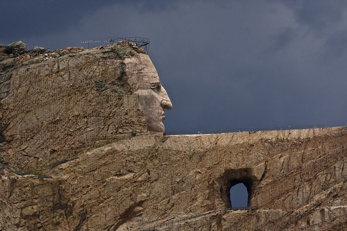 sculpture crazyhorse korczakziolkowski lakotaindians thunderheadmountain siouxindians sculptureinamountain