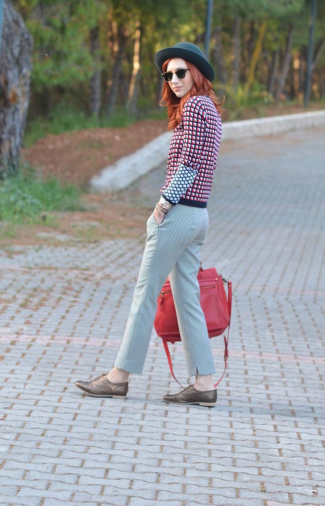 athina valyraki checkered pants