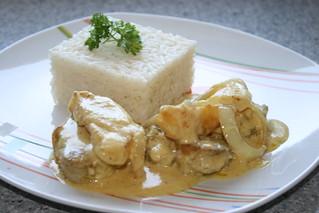 Solomillo de Cerdo al curry con manzana.