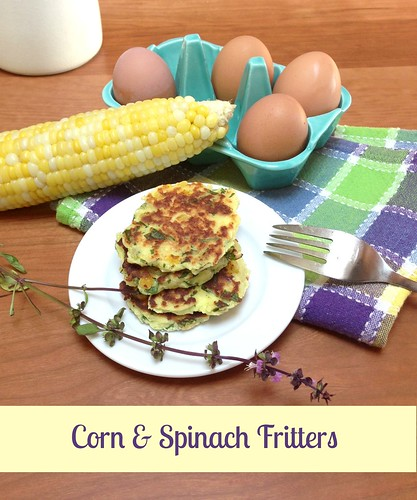 corn and spinach fritters