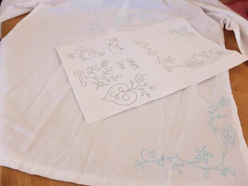 New embroidery pattern inspired by Portuguese traditional fiancé kerchiefs embroidery