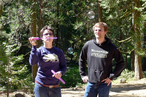 Matthew Holmes and Jessica Dickinson Goodman, at the Lair of the Golden Bear, Pinecrest CA, 2013