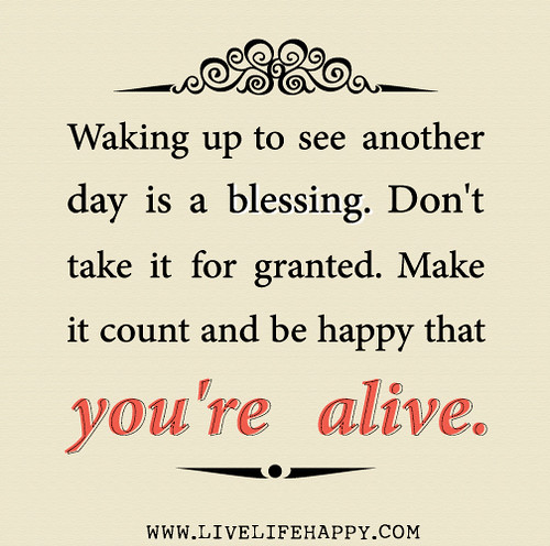 Another Day Of Life Quotes: Waking Up To See Another Day Is A Blessing. Don't Take It