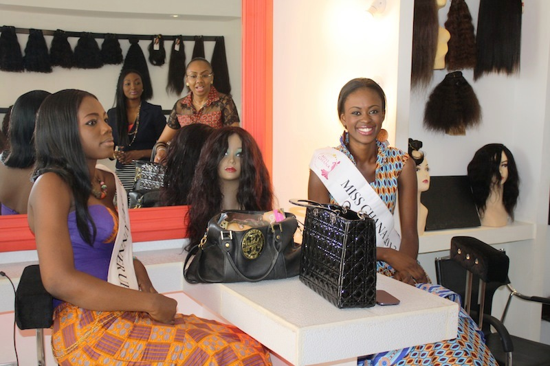 Miss Ghana 2013 winners visit Hair Senta