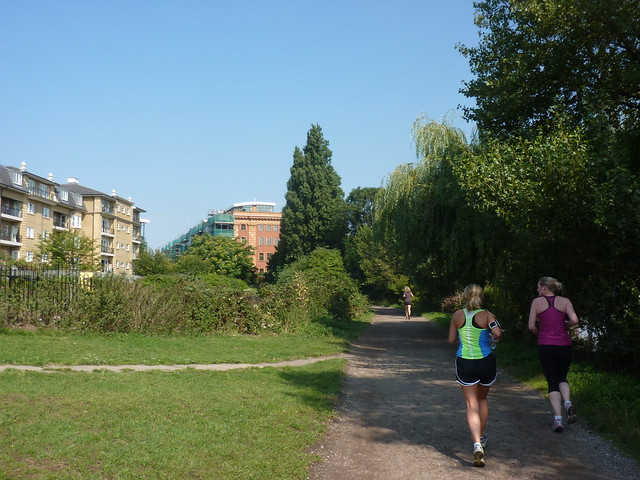 Joggers on the Thames Path