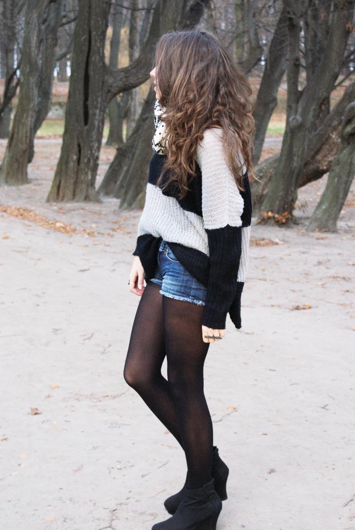 sweter w paski ax paris