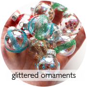 DIY Vintage Style Glittered Ornaments