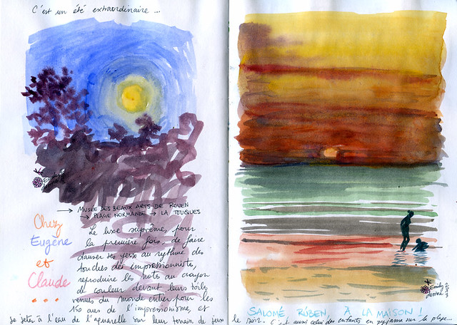 Normandy Holidays Homework #3 - Moonrise and sunset