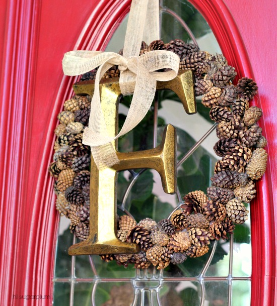 Hi Sugarplum | Fresh Pinecone Wreath