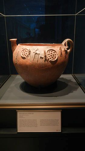 DSCN7549 _ Bowl with Scenes of Daily Life, Early Cypriot, 2000-1900 B.C., Getty Villa, July 2013