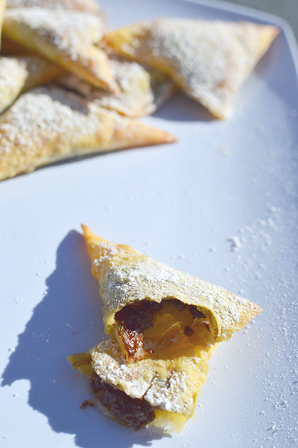Banana and Nutella Wontons