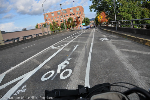 New bike lane on Hawthorne Bridge viaduct-4