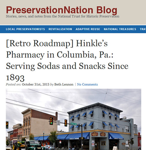 Retro Roadmap  Hinkle s Pharmacy in Columbia  Pa.  Serving Sodas and Snacks Since 1893     PreservationNation Blog
