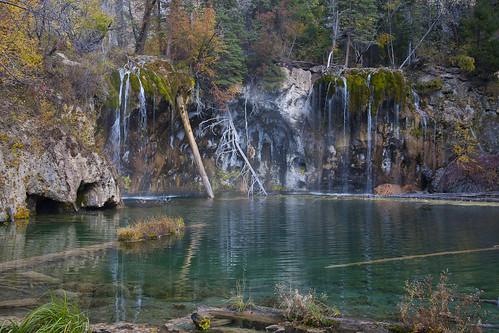 autumn lake green fall water landscape waterfall colorado hiking trail emerald hanginglake glenwoodcanyon anglesedges martinwitt