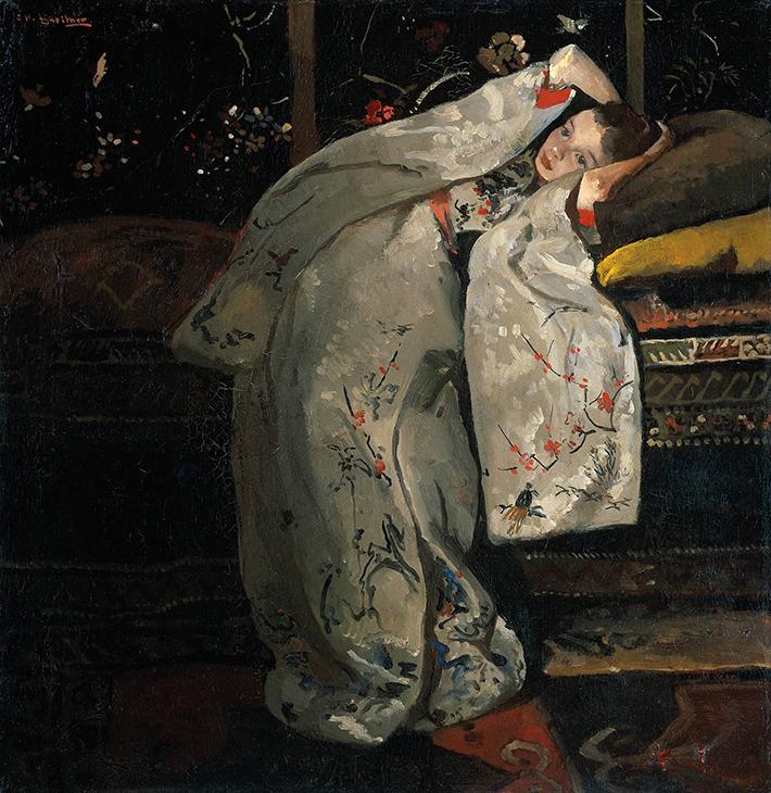George_Hendrik_Breitner_-_Meisje_in_witte_kimono_Geesje_Kwak