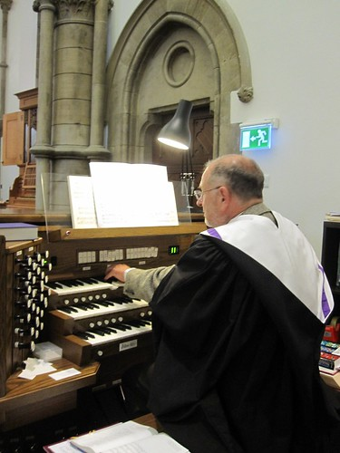 John Willmett at the organ