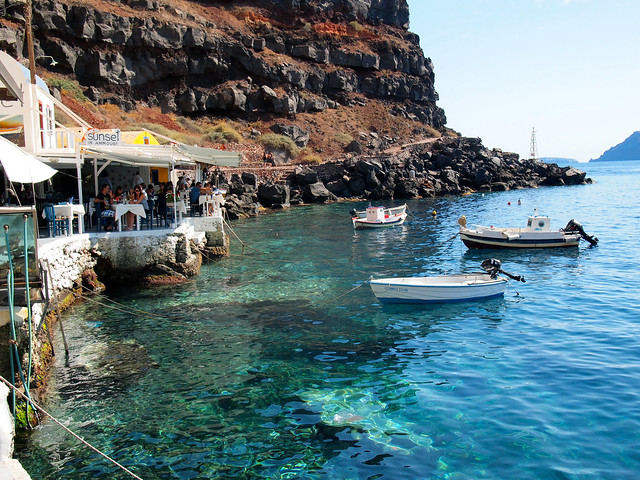 Ammoudi port in Oia, Santorini