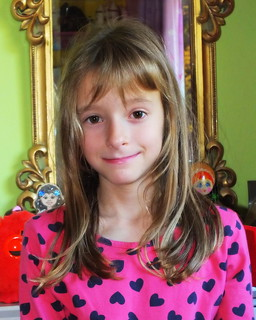 Millie Carter before her haircut